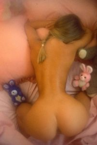 Hot Blonde Teen Butt